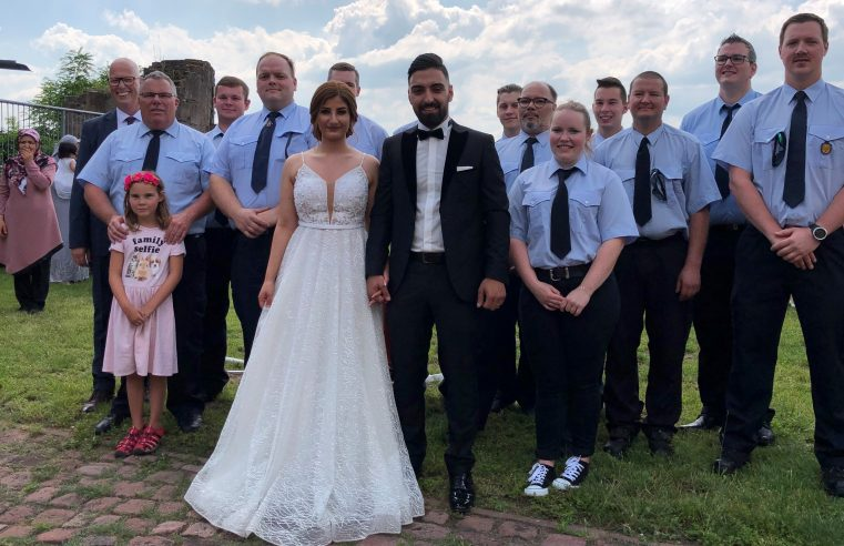Spalierstehen Hochzeit