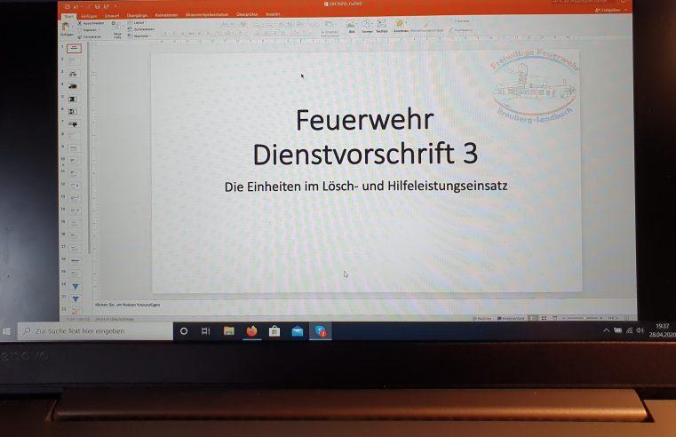 Erster Online Unterricht der Einsatzabteilung